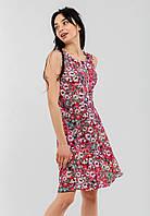 Легкий летний женский сарафан с цветочным принтом 90243/1, фото 1