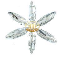 Cтразы в цапах, иголочка 4х15мм,Цвет Crystal