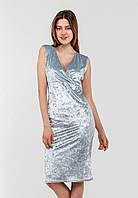 Вишукана жіноча велюрову сукню з V-вирізом 90250/2
