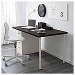 IKEA LINNMON/ALEX Стол, черно-коричневый, белый  (799.326.97), фото 2
