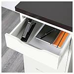 IKEA LINNMON/ALEX Стол, черно-коричневый, белый  (799.326.97), фото 3