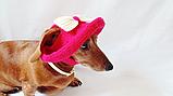Летняя шапка для маленьких собак и котов,панамка для таксы, фото 2