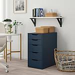IKEA ALEX Комод, синий  (404.103.40), фото 2