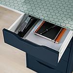 IKEA ALEX Комод, синий  (404.103.40), фото 3