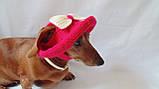 Летняя шапка для маленьких собак и котов,панамка для таксы, фото 6
