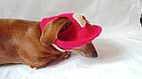 Летняя шапка для маленьких собак и котов,панамка для таксы, фото 7