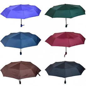 Зонтик складной автомат однотонный  106