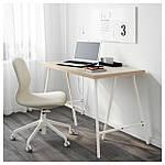 IKEA LINNMON/LERBERG Стол, бежевый, белый  (992.142.76), фото 2