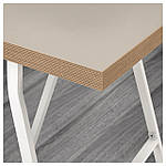 IKEA LINNMON/LERBERG Стол, бежевый, белый  (992.142.76), фото 3