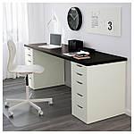 IKEA LINNMON/ALEX Стол, черно-коричневый, белый  (999.326.96), фото 2