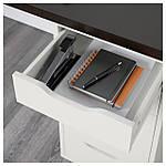 IKEA LINNMON/ALEX Стол, черно-коричневый, белый  (999.326.96), фото 3