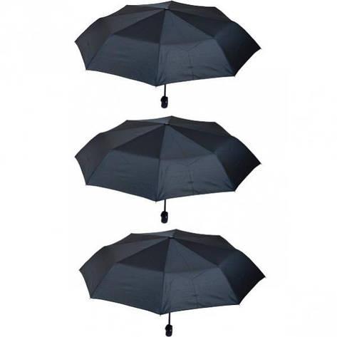 Зонтик складной автомат черный, фото 2