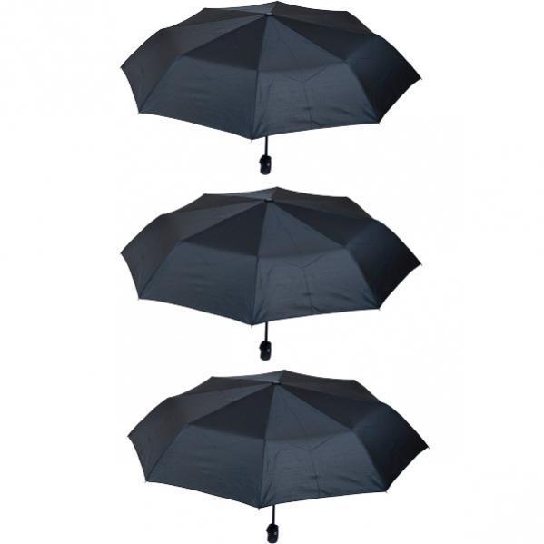 Зонтик складной автомат черный