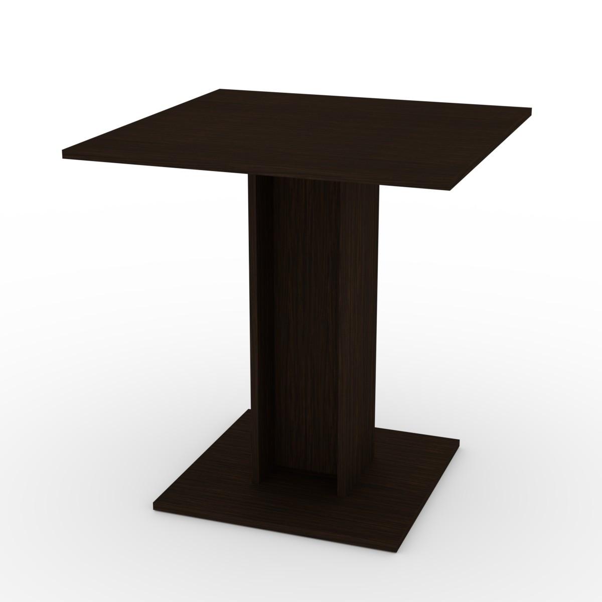 Стол кухонный КС-7 венге темный Компанит (70х70х74 см)