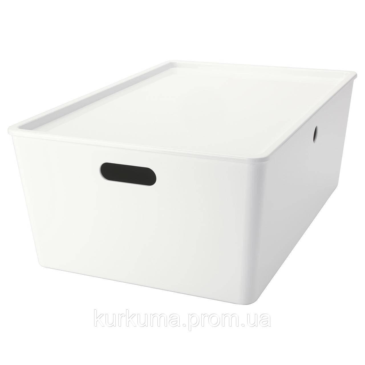 IKEA KUGGIS Коробка с крышкой, белый  (102.802.03)