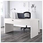 IKEA MALM Стол с выдвижной панелью, белый  (702.141.92), фото 3