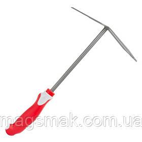 Сапка с мотыгой садовая 250 мм*150 мм с комбинированной рукояткой [] INTERTOOL FT-0033