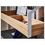 IKEA SVALNAS Пристенный стол, бамбук, белый  (291.844.52), фото 4