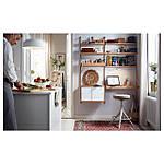 IKEA SVALNAS Пристенный стол, бамбук, белый  (291.844.52), фото 8