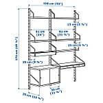IKEA SVALNAS Пристенный стол, бамбук, белый  (291.844.52), фото 7