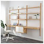IKEA SVALNAS Пристенный стол, бамбук, белый  (191.844.62), фото 2
