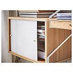 IKEA SVALNAS Пристенный стол, бамбук, белый  (191.844.62), фото 6