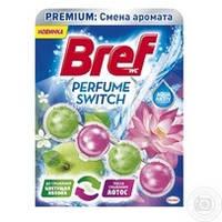 Туалетные блоки для унитаза Bref Изменение аромата Яблоко-Лотос 50г