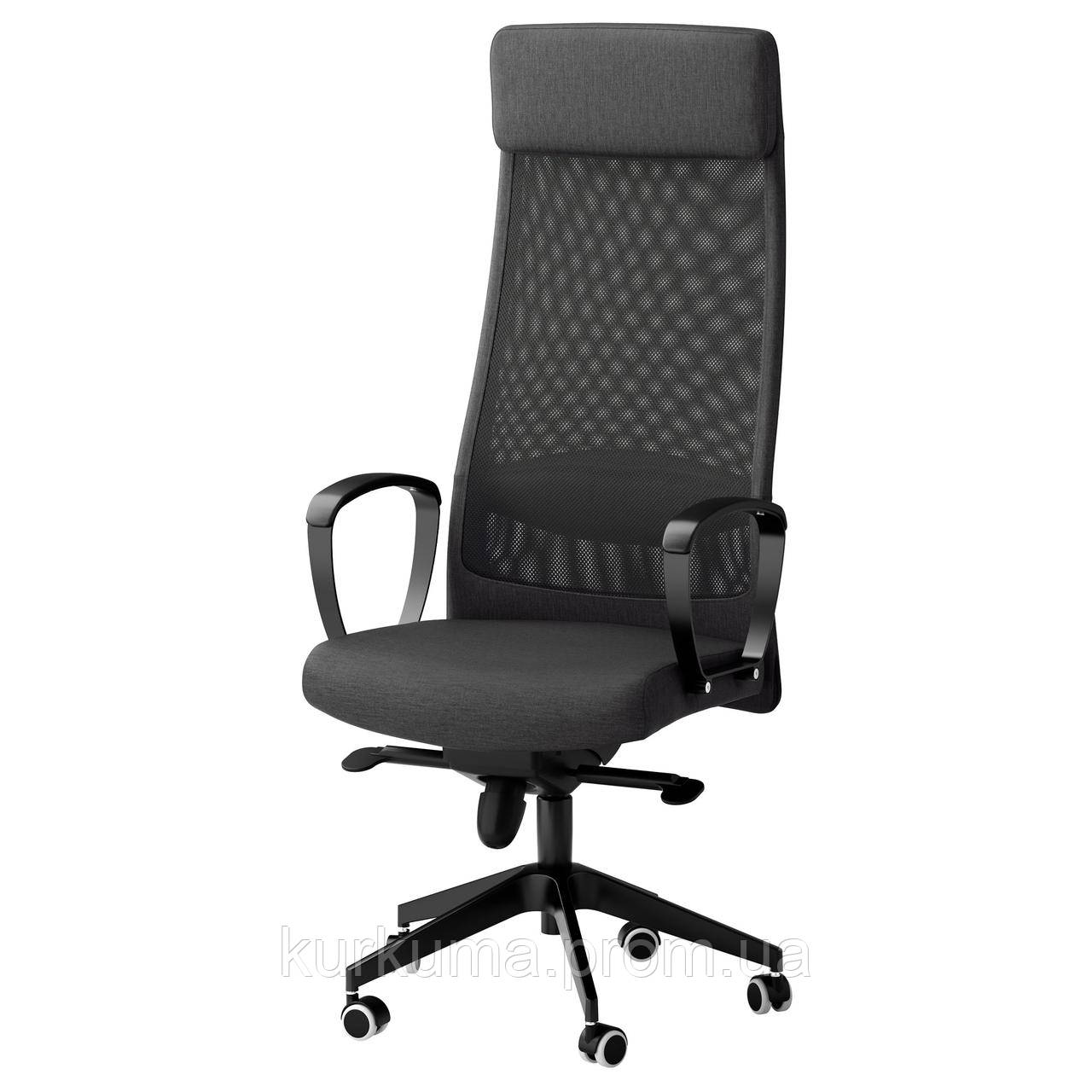 IKEA MARKUS Рабочий стул, ВИССЛЕ темно-серый  (702.611.50)