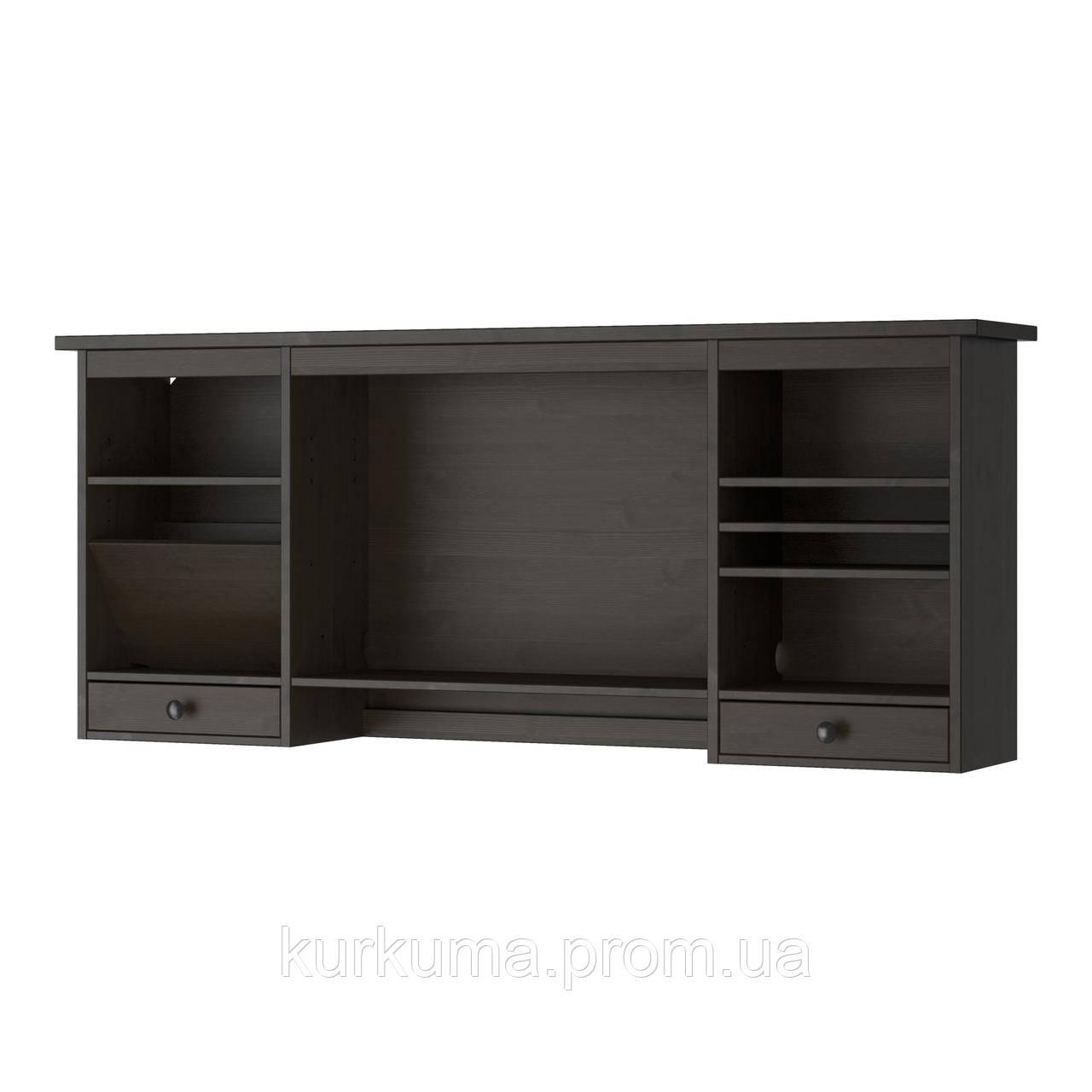 IKEA HEMNES Дополнительная надставка для стола, черно-коричневый  (402.457.03)