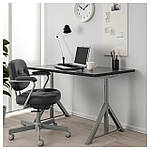 IKEA IDASEN Стол, черный, темно-серый  (192.810.24), фото 2