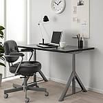 IKEA IDASEN Стол, черный, темно-серый  (192.810.24), фото 3
