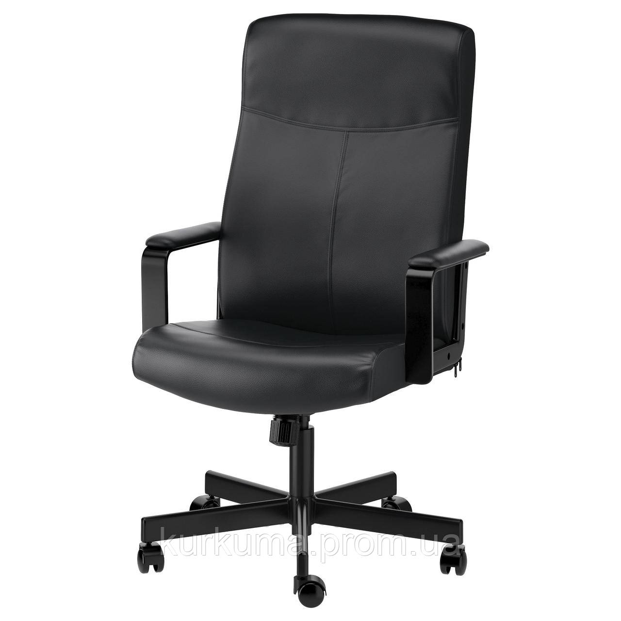 IKEA MILLBERGET Рабочий стул, Бомстад черный  (903.394.12)
