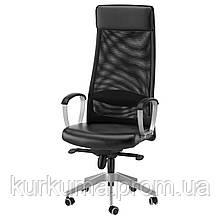 IKEA MARKUS Рабочий стул, черный глосе прочный черный  (401.031.00)