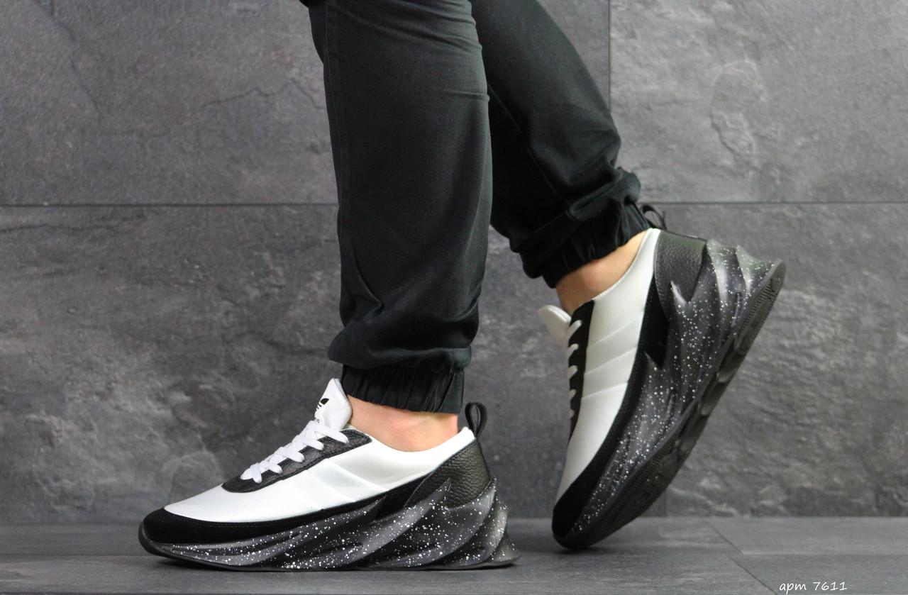 7492ef5ab7fec9 Чоловічі кросівки Adidas Sharks, білі з чорним - BEST-CROSS в Хмельницком