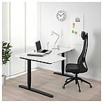 IKEA BEKANT Угловой стол, белый, черный  (190.222.81), фото 2