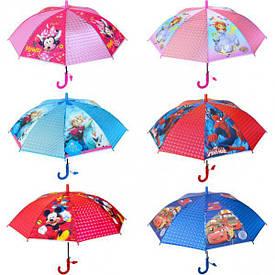 Зонтик - трость детский 3D мультики