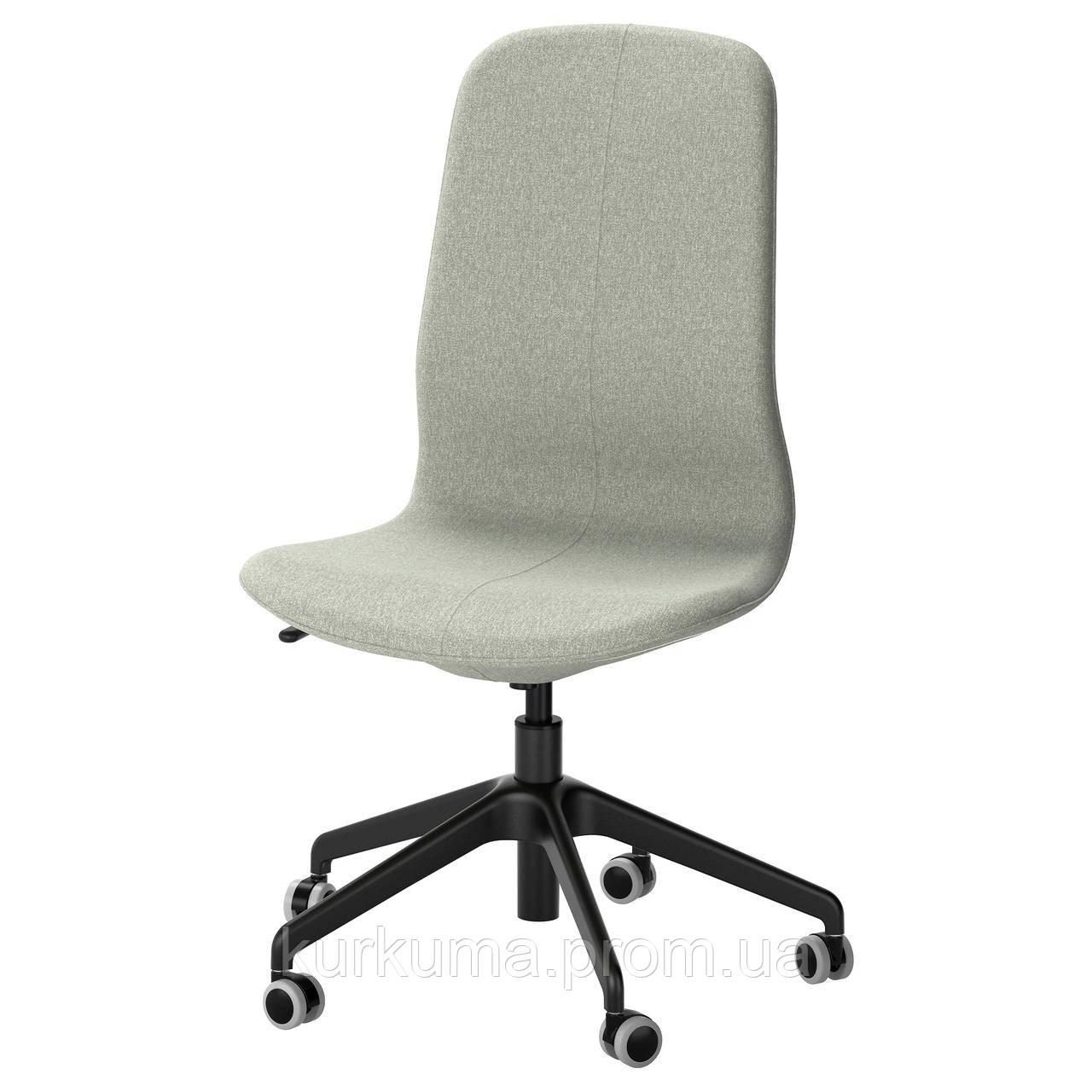 IKEA LANGFJALL Робочий стілець, світло-зелений, чорний (091.777.54)
