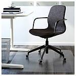 IKEA LANGFJALL Рабочий стул, темно-серый, черный  (591.779.02), фото 2