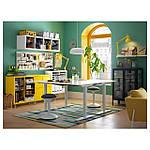 IKEA BEKANT Рабочий стол, регул. высота, белый  (690.225.37), фото 6