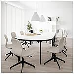 IKEA BEKANT Стол для конференций, белый, черный  (790.063.01), фото 2