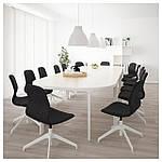 IKEA BEKANT Стол для конференций, белый  (790.063.15), фото 2