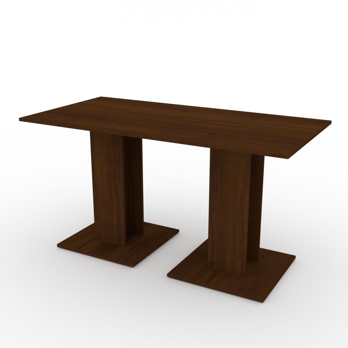 Стол кухонный КС-8 орех экко Компанит (140х70х74 см)