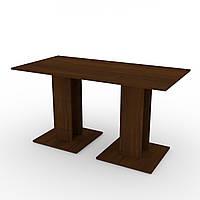 Стол кухонный КС-8 орех экко Компанит (140х70х74 см), фото 1