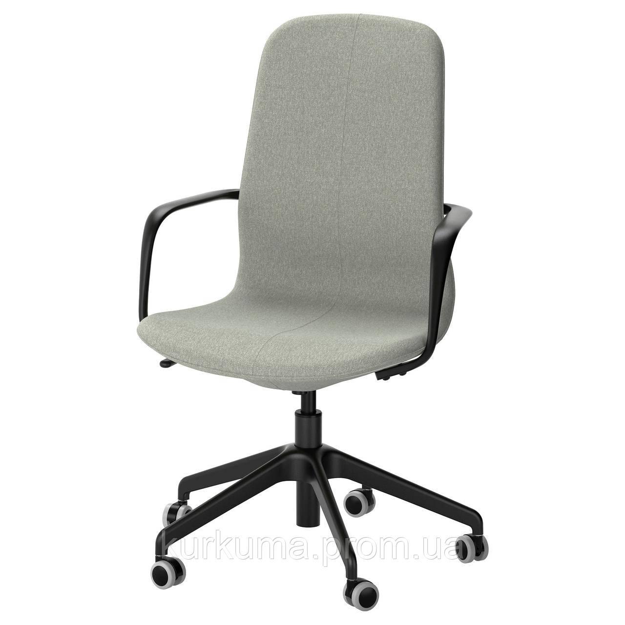 IKEA LANGFJALL Рабочий стул, светло-зеленый, черный  (191.781.59)