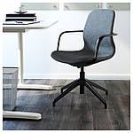IKEA LANGFJALL Рабочий стул, синее, черный  (891.762.27), фото 2