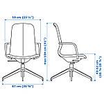 IKEA LANGFJALL Рабочий стул, бежевый, черный  (191.763.01), фото 6