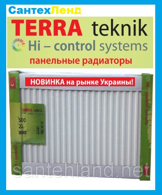 Стальной Панельный Радиатор Terra Teknik 22 500x1600 Боковое Подключение