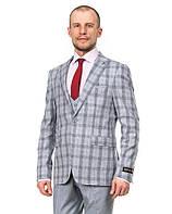 Приталенный комбинированный мужской костюм-тройка Renzo 342-02