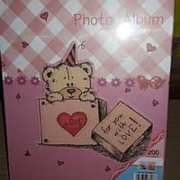 "Альбом для фотографий (с чехлом) ""Медвеженок"" 200 фото 15х20см"