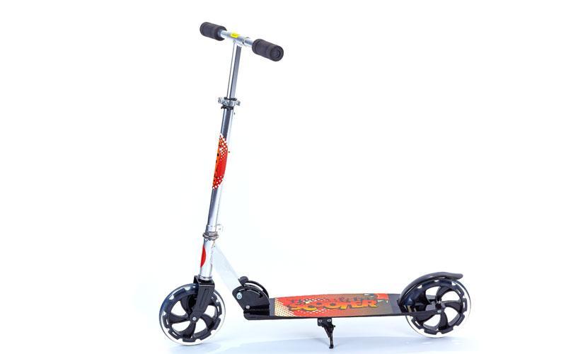 Самокат для дорослих складаний CA-200 (метал,колесо-PU,d-200мм,р-р платф. 59х17,5см,АВЕС-7)Z